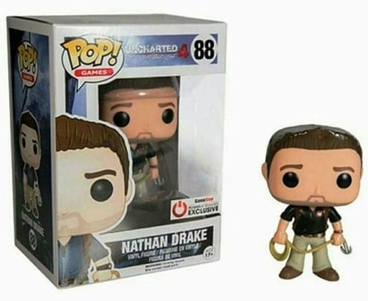 Uncharted 4 Nathan Drake Limited Edition GameStop Power Up Rewards Exclusive Funko Pop