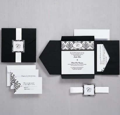 Four Folded Pocket Invitation Cards HPI270