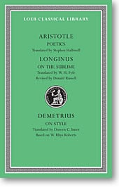 Aristotle, XXIII: Poetics. On the Sublime. On Style (Loeb Classical Library)