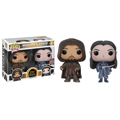 Lord of the Rings Funko POP!: Aragorn & Arwen 2-Pack (SDCC Exclusive)