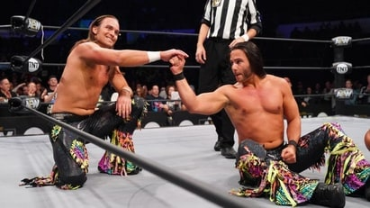 Adam Page and Kenny Omega vs. The Young Bucks
