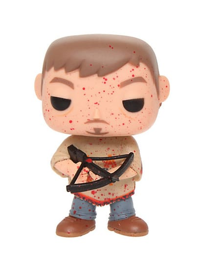 The Walking Dead Pop! Vinyl: Daryl in Poncho Hot Topic Exclusive Blood Splatter Chase Version